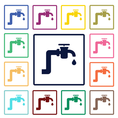 trickle: tap water icon Illustration