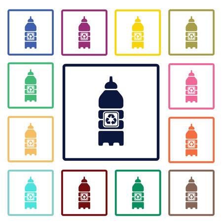 nonalcoholic: recycling bottle icon Illustration