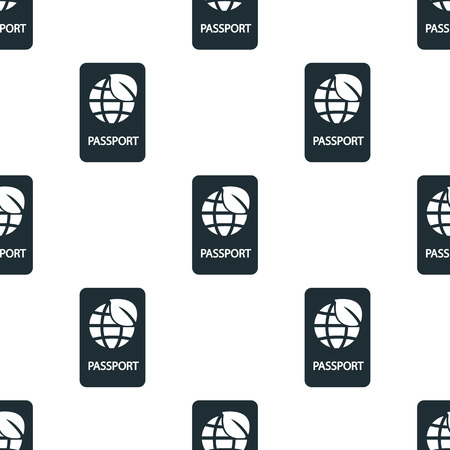 emigration and immigration: eco passport icon