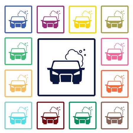 pollute: pollute the air icon