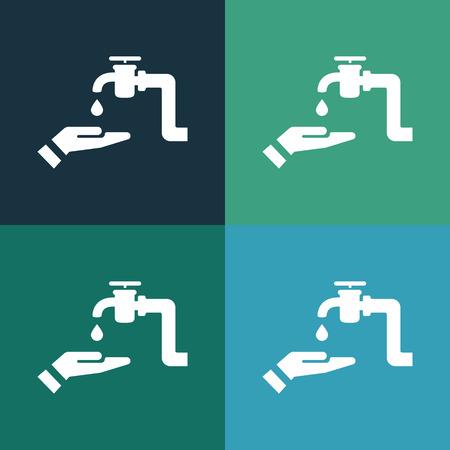 trickle: hand wash icon Illustration