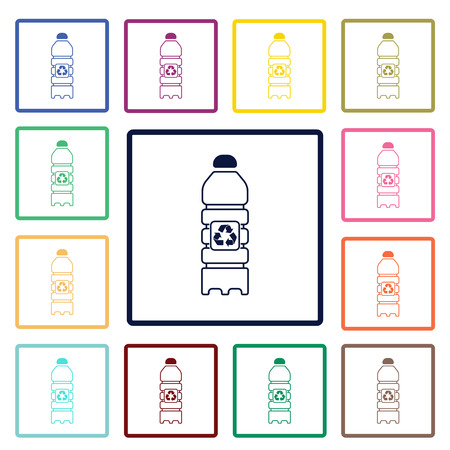 purify: recycling bottle icon Illustration