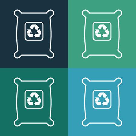 garbage bag: garbage bag icon Illustration