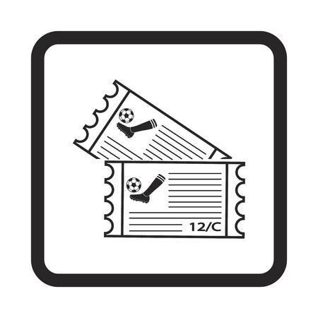 single entry: football tickets icon
