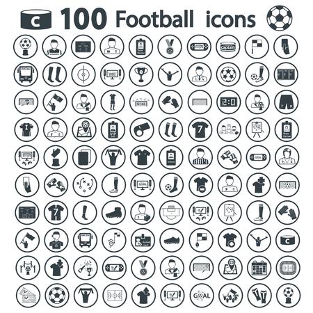 establish: football icon set Illustration