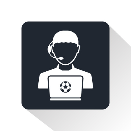 statistician: football bookie icon