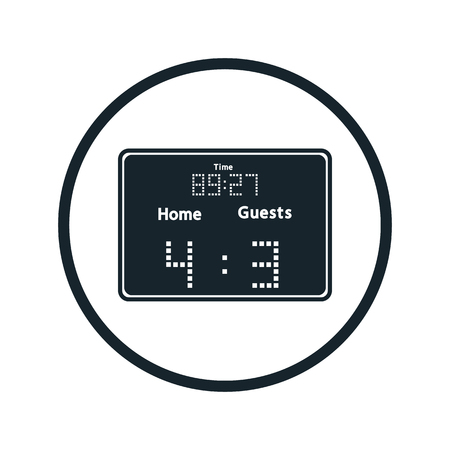 outdated: scoreboard icon Illustration