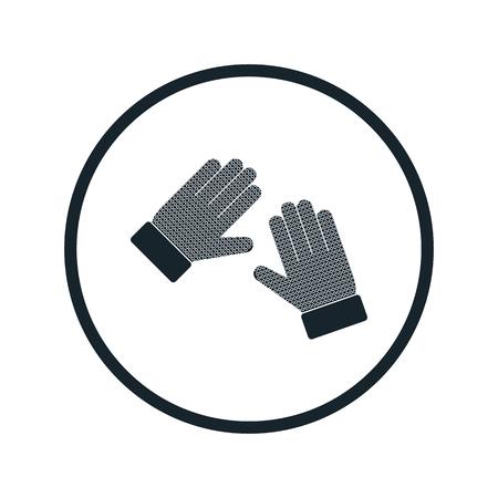 precaution: goalkeeper gloves icon