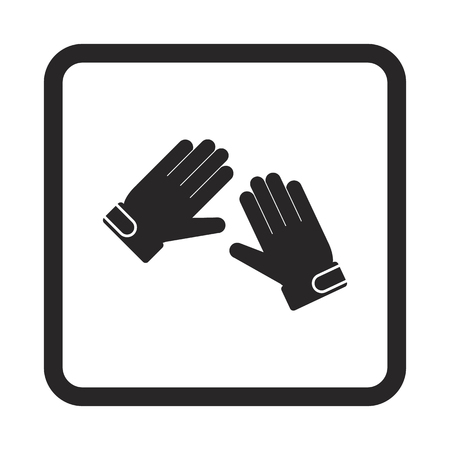 precautions: goalkeeper gloves icon