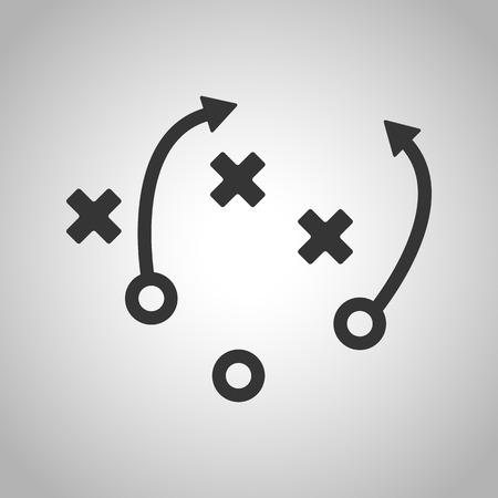 축구 전략 아이콘
