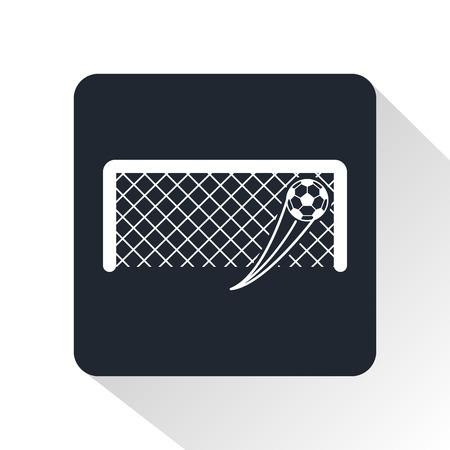 voetbaldoel icon Vector Illustratie