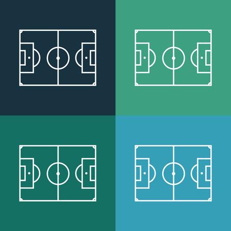 grass area: football field icon Illustration
