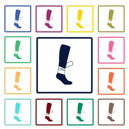 leg bandage: bandage on a leg icon