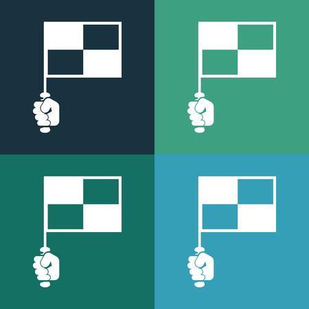 tournament chart: football flag icon Illustration