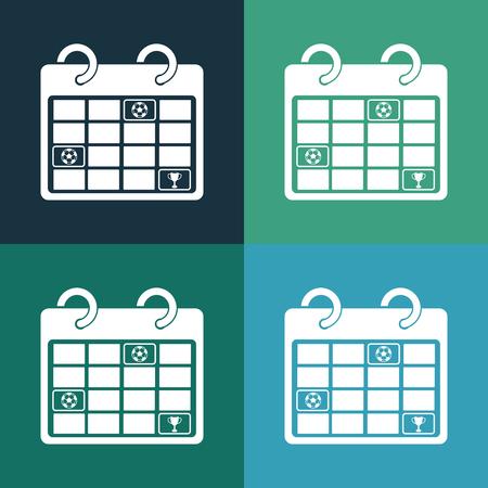 tournament chart: football schedule icon Illustration