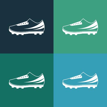 football boots: football boots icon Illustration