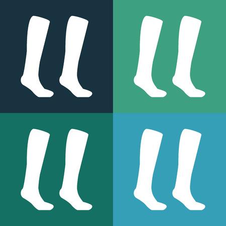 socks: Football socks icon Illustration