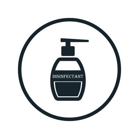 desinfectante: icono de desinfectante