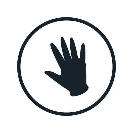 latex glove: rubber glove icon