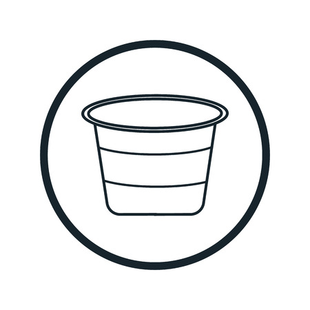 storing: cap for paint icon Illustration