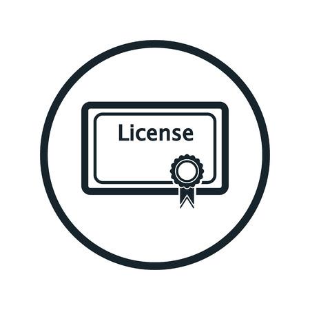 master degree: license icon