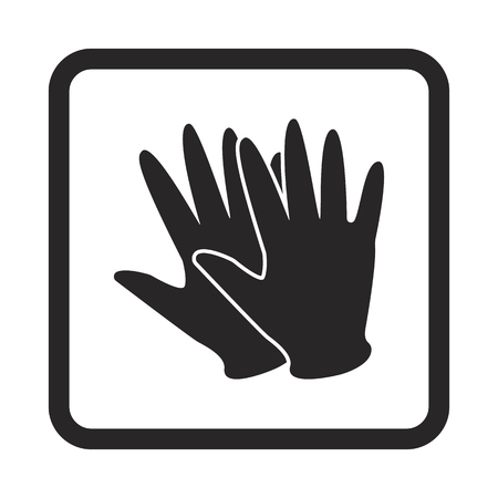 medical gloves: rubber glove icon