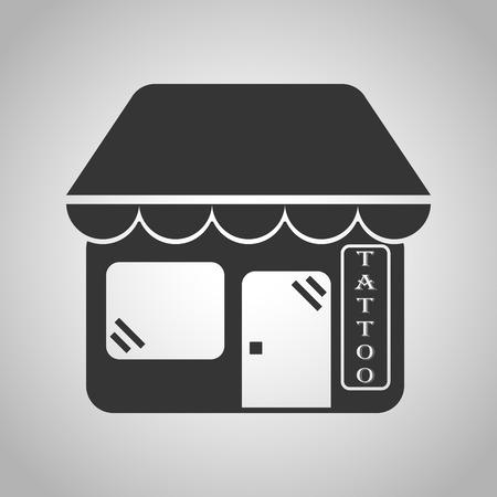 recline: tattoo salon icon Illustration