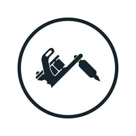 tattooing: Tattoo machine icon Illustration