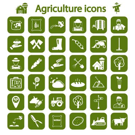 Landwirtschaft Icon-Set