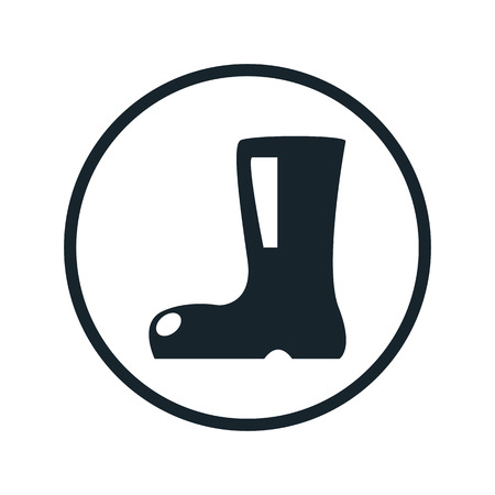 wellies: boot icon Illustration