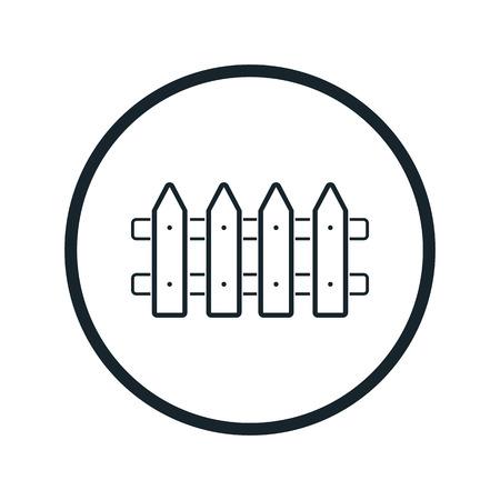 fence icon Illustration