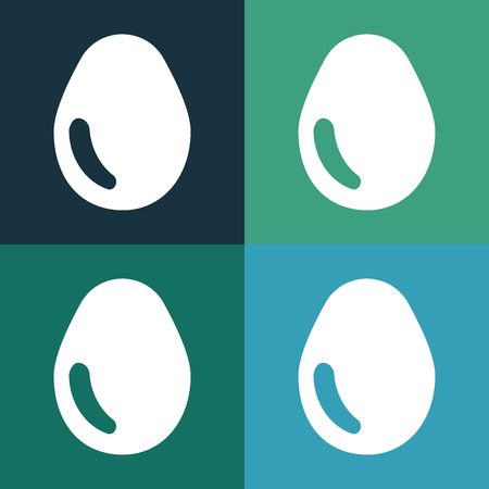 boiled eggs: egg icon Illustration