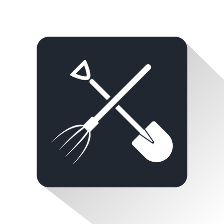 pitchfork: shovel and pitchfork icon Illustration