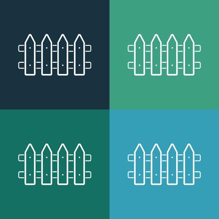 bucolic: fence icon Illustration
