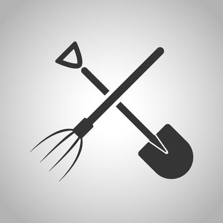 pitchfork: shovel and pitchfork icon Illustration