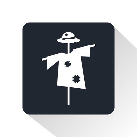 espantapajaros: icono de espantapájaros Vectores