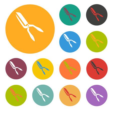 tree trimming: gardening scissors icon Illustration