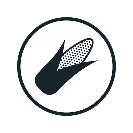 agriculture icon: corn icon Illustration