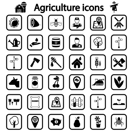 agriculture icon: agriculture icon set