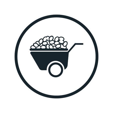 potatoes: Wheelbarrow with potatoes icon