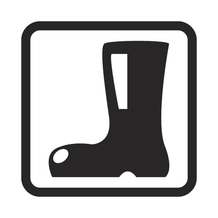 safety shoes: boot icon Illustration