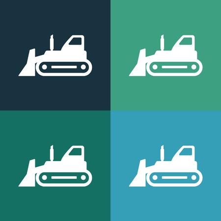 road grader: bulldozer icon
