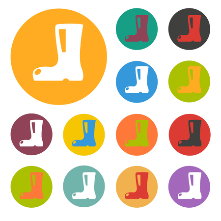 galoshes: boot icon Illustration
