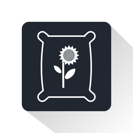 seeds: seeds bag icon Illustration