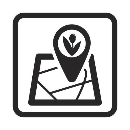 corn flower: farm map icon Illustration