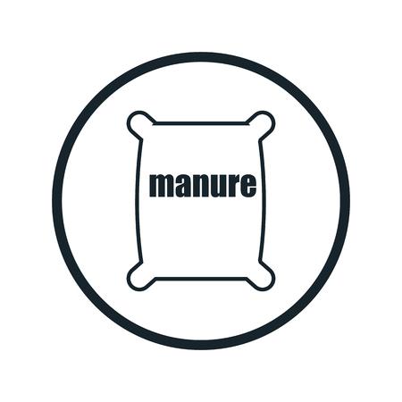 manure: fertilizer bag icon Illustration