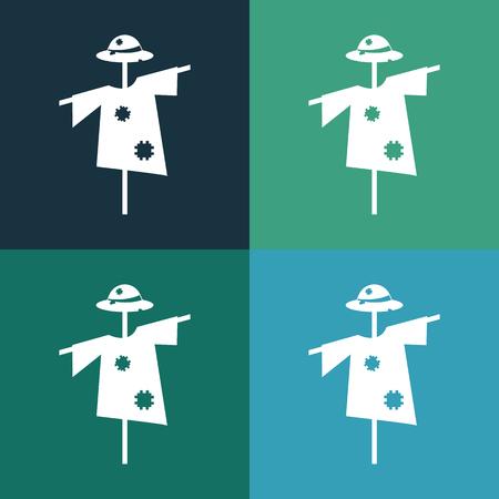 espantapájaros: icono de espantapájaros Vectores
