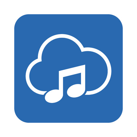 global settings: cloud storage icon Illustration