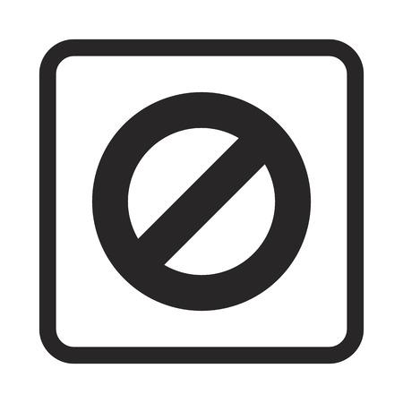 fault: ban button icon