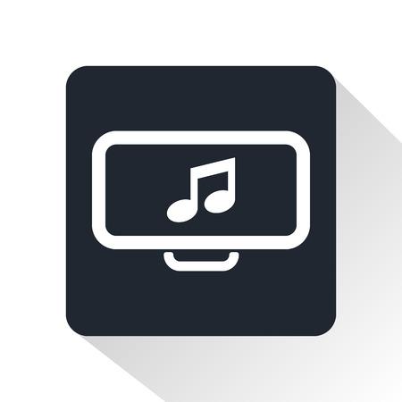 monitor: monitor screen icon Illustration